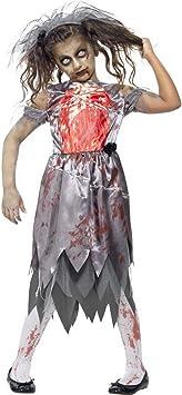 Disfraz de Halloween para niña, disfraz de fantasma de novia con ...