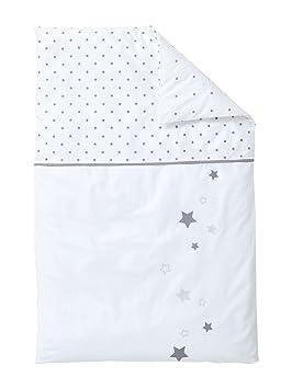 af1559edf421a Vertbaudet Housse de Couette bébé Pluie D ETOILES Blanc Gris 80X120 ...