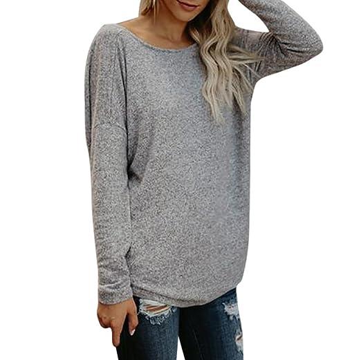 df25040a38908 Hunzed   Women Shirt Women Fashion T-Shirt Casual   Backless   Tops Lady  Long