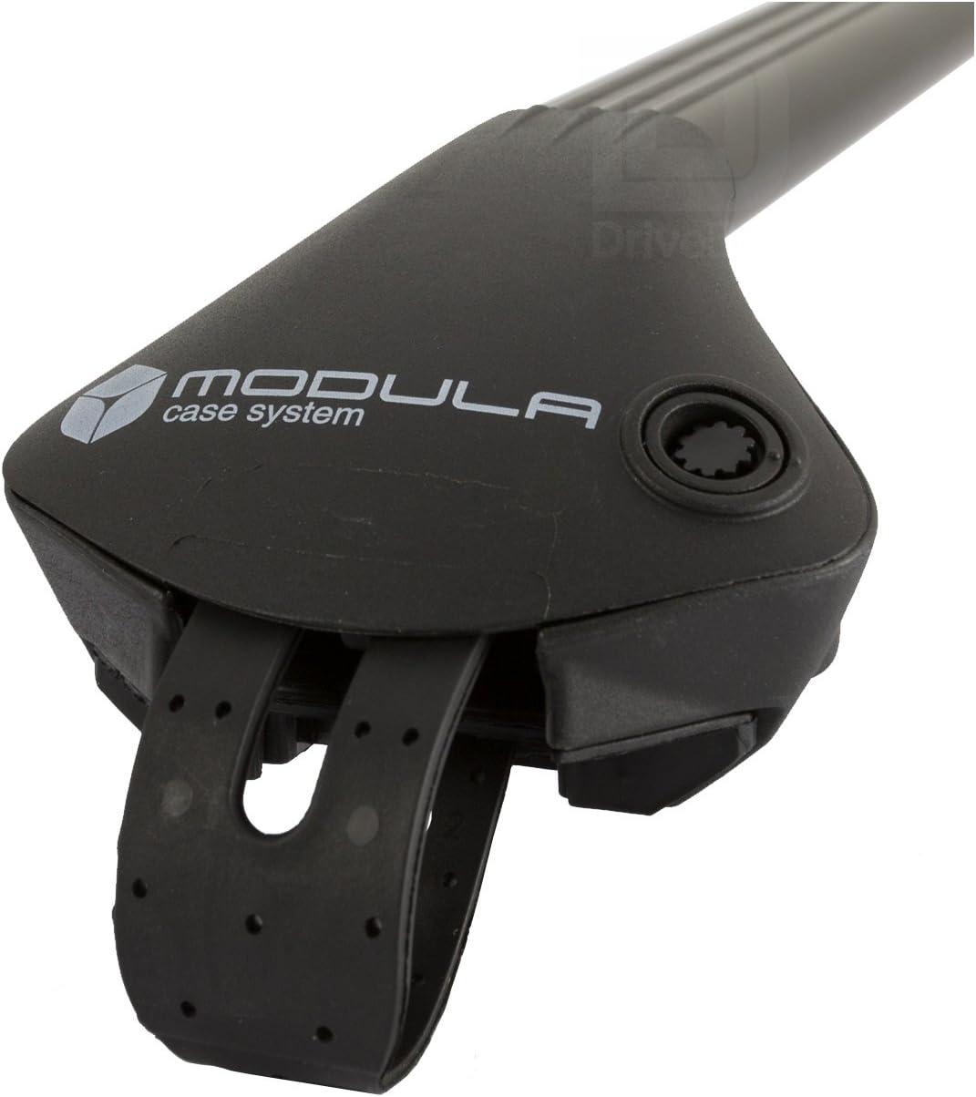 Modula MOCS0074-0741 Aluminium Black Roof Bar Set Open Roof Rails