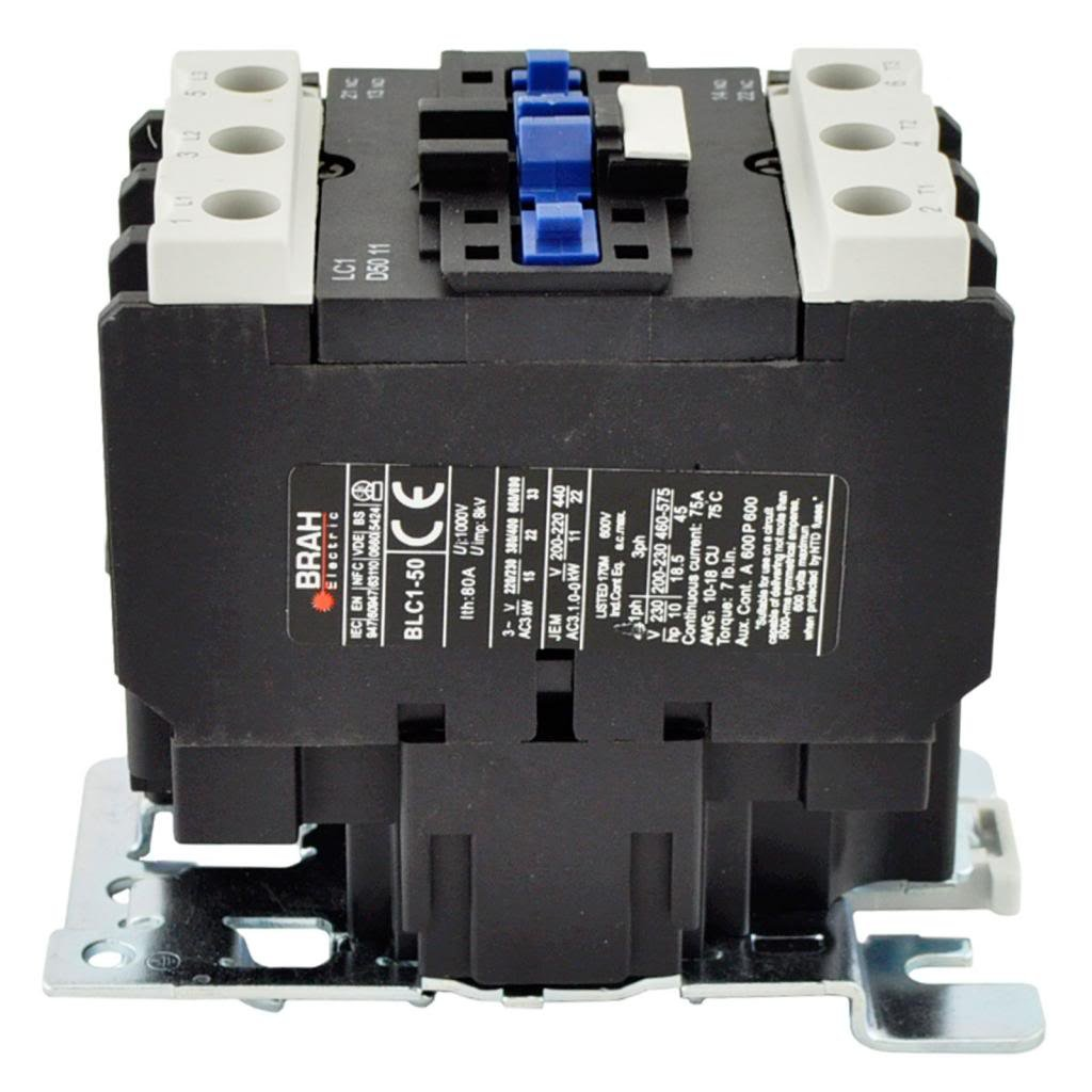 Direct Replacement for TELEMECANIQUE LC1-D50 AC Contactor LC1D50 LC1D5011-B6 24V Coil 3 Phase 3 Pole 50 Amp
