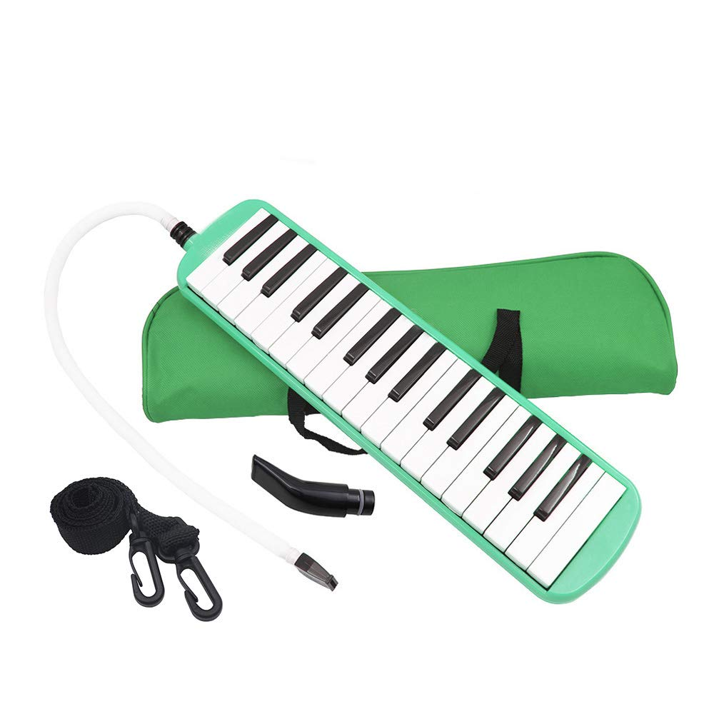 Whryspa 32 Key Melodica/Piano with Bag (ME32) Easy to Control, Suitable for Teaching, Performance, Piano Enlightenment (Green)