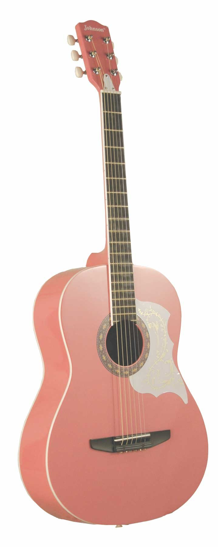 Johnson JG-100-PK Student Acoustic Guitar, Pink