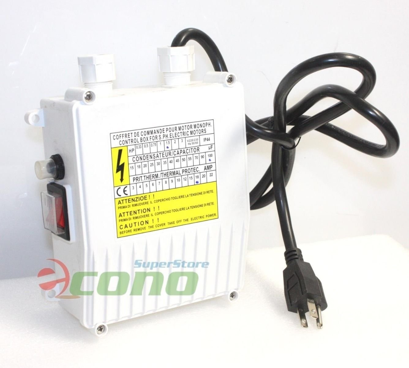 110v 60hz Control Box For 1hp 1.5hp Deep Well Water Pump by Generic