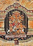Maa Durga - Batik Painting On Cotton