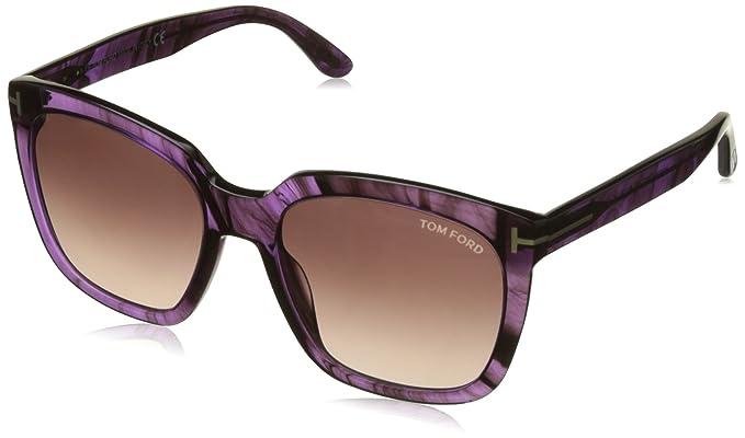 Tom Ford Amarra Sonnenbrille Schwarz glänzend 01T 55mm hEScj