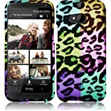 Cell Accessories For Less (TM) For HTC One M8 Rubberized Design Cover Case - Colorful Leopard + Bundle (Stylus & Micro Cleaning Cloth) - By TheTargetBuys
