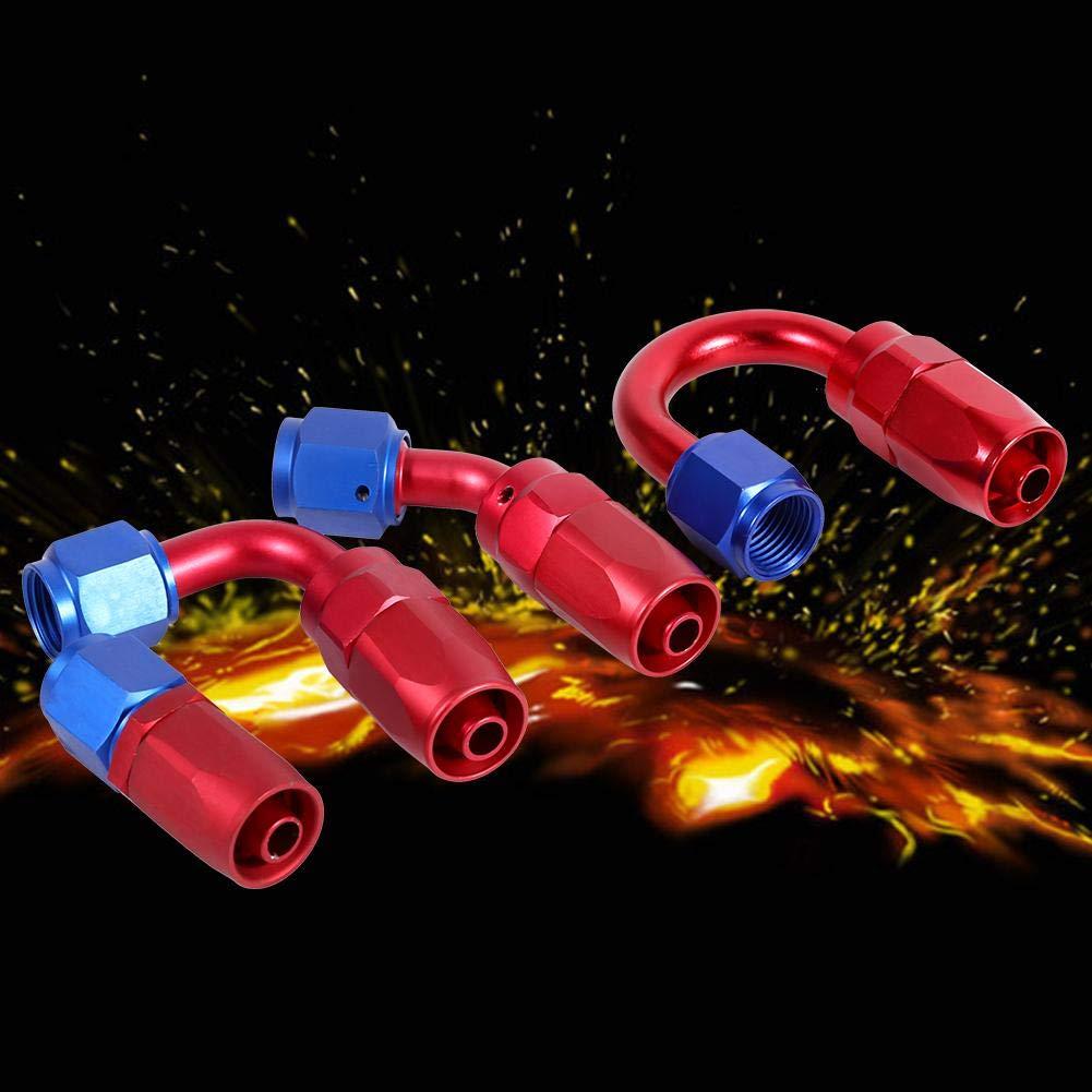 Adaptador de manguera de combustible con extremo giratorio y extremo de manguera de combustible y aceite para manguera giratoria AN6
