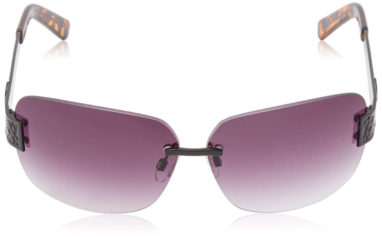 20744629d6f6 Jessica Simpson Women s J5107 MBLK Rimless Metal Sunglasses