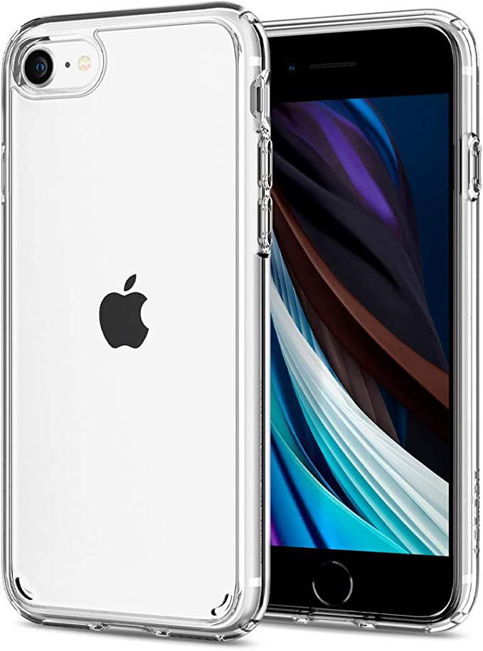 Spigen Ultra Hybrid Designed For Iphone Se 2020 Case Iphone 8 7 Case Clear Hard Back Flexible Bumper With Shockproof Air Cushion Crystal Clear Amazon Co Uk Electronics