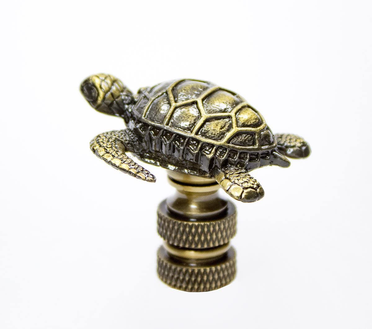 Sea Turtle Antique Metal Finial