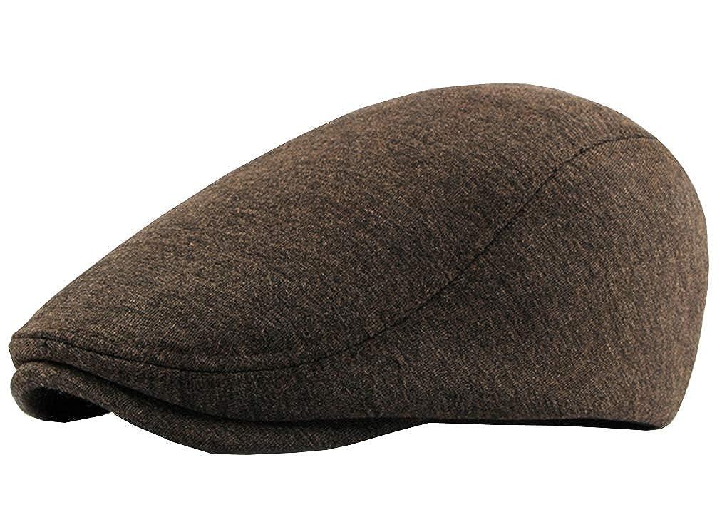 Mens Newsboy Cap Cotton Beret Hat Gatsby Cabbie Flat Cap