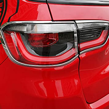 Auto lámpara de luz trasera Bisel embellecedor de moldura ABS cromado 4 piezas/set: Amazon.es: Coche y moto