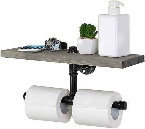 Papier Toilette Support Rétro Vintage  WC Porte-rouleau papier hygiénique