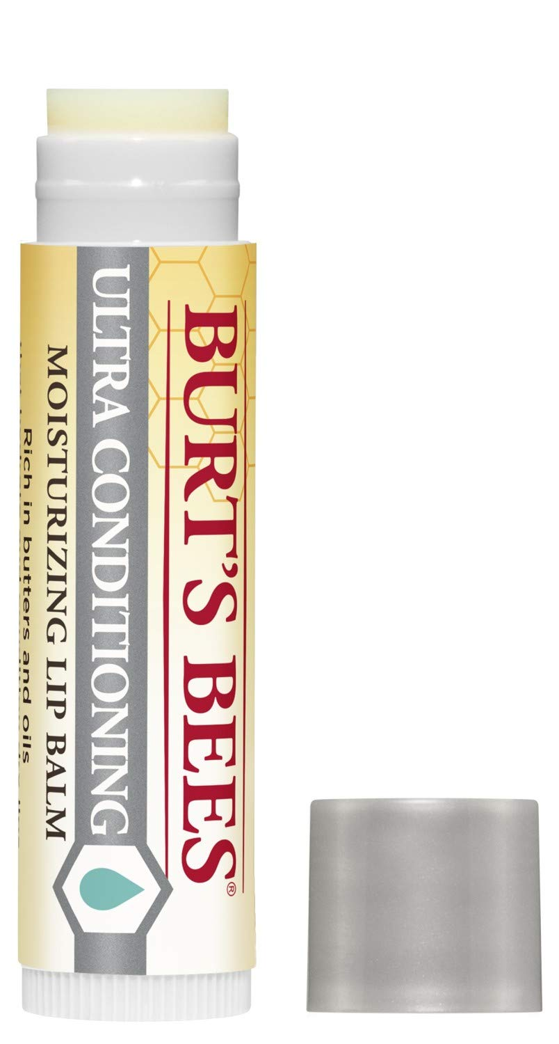 Burt's Bees 100% Natural Moisturizing Lip Balm, Ultra Conditioning with Kokum Butter, Shea Butter & Cocoa Butter - Pack of 1