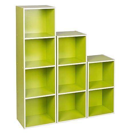 Mensole e libreria fai da te in legno con utilizzo anche di t for Mensole quadrate ikea