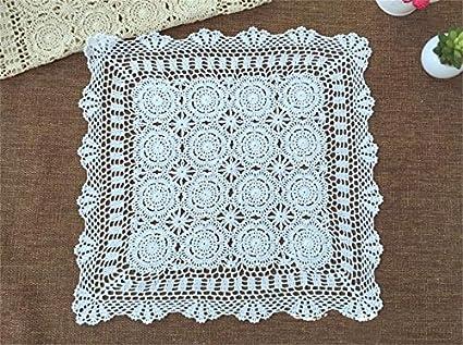 LILSN- ganchillo hecho a mano manteles de algodón de punto de ganchillo a cielo abierto del ...