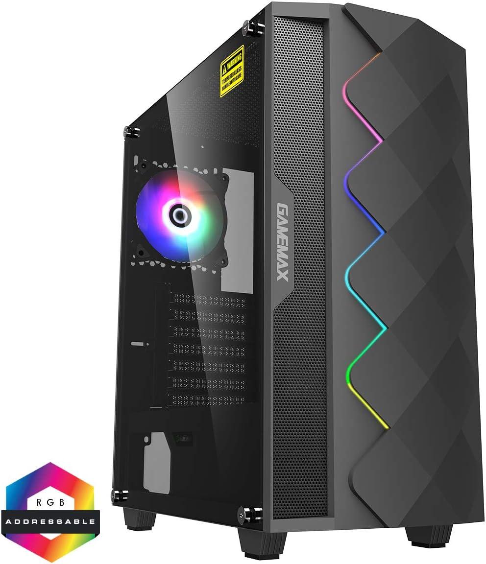 Gamemax Black Diamond Argb Mid Tower Pc Gaming Gehäuse Computer Zubehör