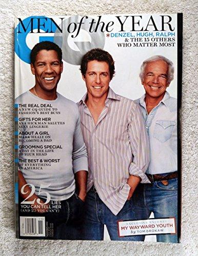 Denzel Washington, Hugh Grant & Ralph Lauren - Men of the Year - GQ Magazine - November - Mens Fashion Gq