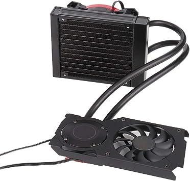 Pokerty Ventilador de refrigeración de PC, 120VGA Tarjeta gráfica Refrigerador de Agua CPU Radiador 12CM Ventilador de refrigeración: Amazon.es: Electrónica