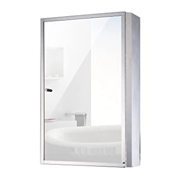 Amazoncom Homcom Vertical 24 Stainless Steel Bathroom Wall Mirror