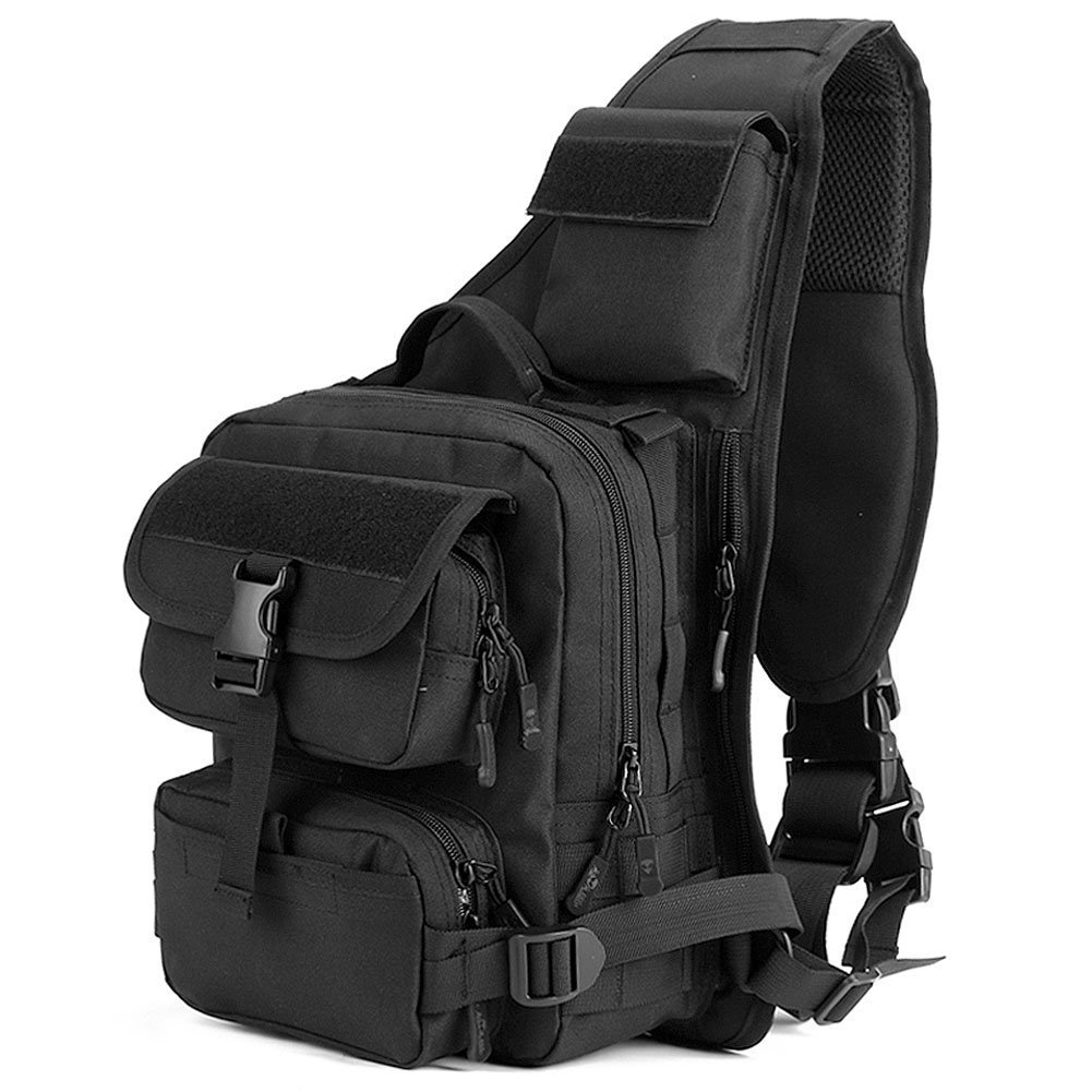Tactical Sling Bag Pack Military Rover Shoulder Sling Backpack Crossbody Bag for Hunting Camping Trekking