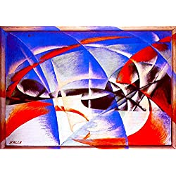 "Landscape - By Giacomo Balla - Giclee Canvas Prints 20"" by 14"" Unframed"