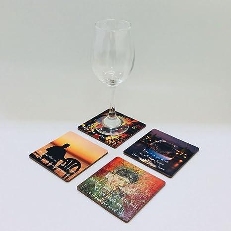 4 pcs/Set Posavasos de corcho vino Party Bar cerveza posavasos Party decoración vino posavasos