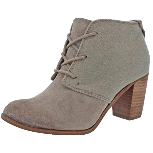 3db95c62e Toms Women's Lunata Lace-up Casual Booties Taupe Suede/Wool (11 ...