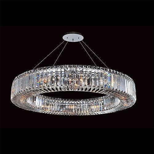 Allegri 11705-010-FR001 Quantum Rondelle – Twelve Light Round Pendant, Firenze Clear Crystal