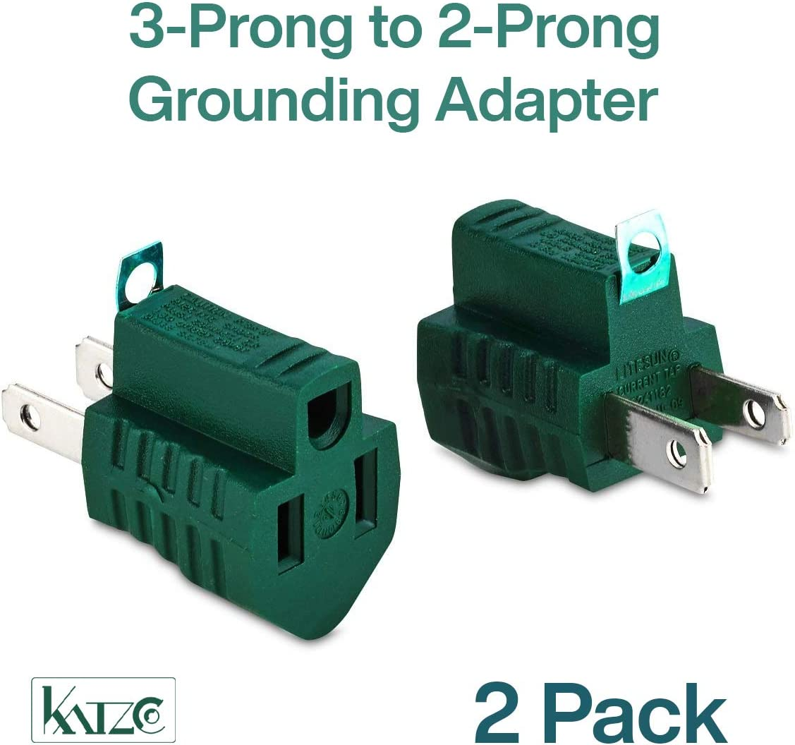 6pcs Helping Hand FQ85030 3-Prong to 2-Prong Polarized Grounding Adapter NEW