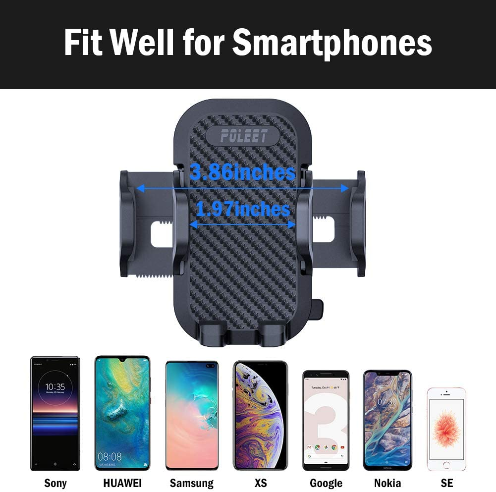 Black Air Vent Car Phone Mount Most Convenient Cell Phone Holder for Vehicle Jeep Truck,Pellet Car Stand Clip Compatible with iPhone XR XS MAX 8 7 6 5 Galaxy Note S 10 9 8 7 6 Pixel 3 2