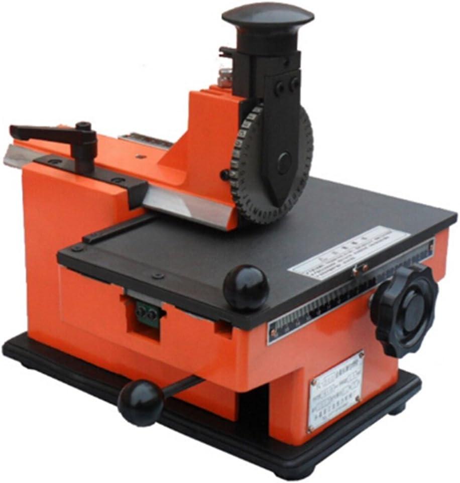 Placa de la Etiqueta de Metal Stamping Impresora Semi Automática Máquina de Marcado 4mm: Amazon.es: Bricolaje y herramientas