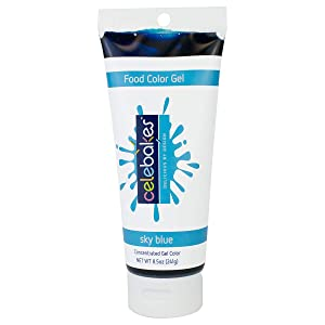 Celebakes by CK Products Sky Blue Food Color Gel, 8.5 oz Tube