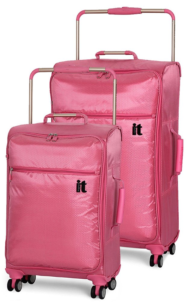 IT Luggage World's Lightest 2 Piece Spinner Set (24'' & 30'') - Desert Rose by IT Luggage