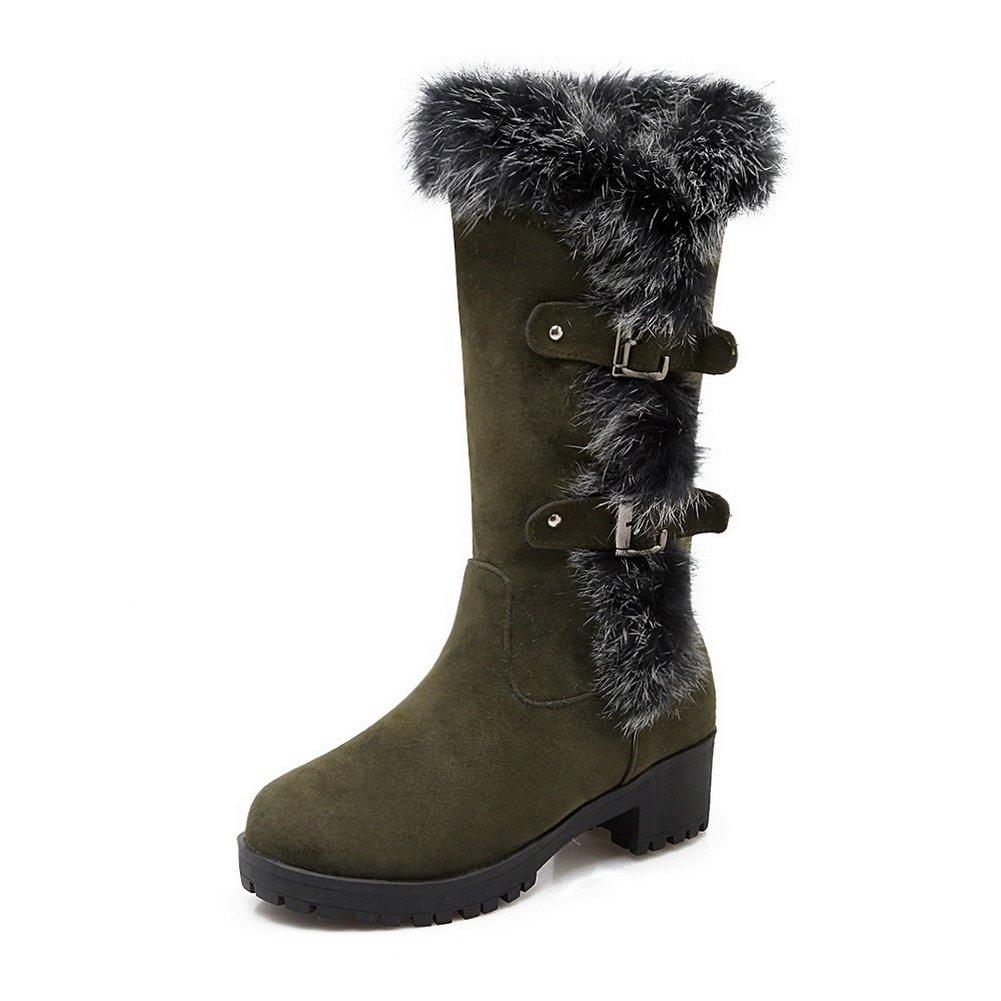 AdeeSu - Botas de nieve mujer40 EU|Army Green