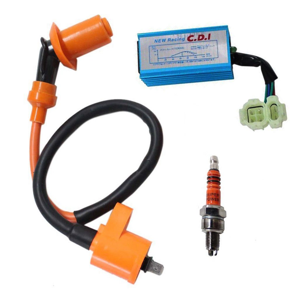 hsn_zem Ignition Coil CDI Box Spark Plug for GY6 50-150cc 139QMB 152QMI engines Scooters