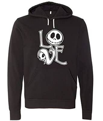 Nightmare Before Christmas Jack And Sally Love Unisex Hooded