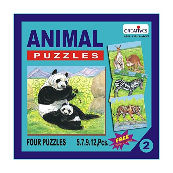 Creative Educational Aids P. Ltd. Animal Puzzle No. 2 (Multi-Color, 33 Pieces)