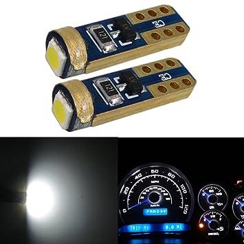 WLJH Super brillante 10 pcs T5 74 Cuña de 286 5 mm base bombillas led SMD