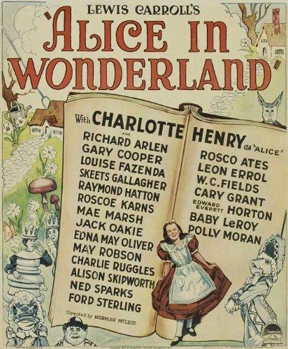 Alice in Wonderland Movie Poster (27 x 40 Inches - 69cm x 102cm) (1931) Style B -(Gus Alexander)(Lillian Ardell)(Meyer Berensen)(Tom Corless)(N.R. Cregan Ruth Gilbert)(Patrick Glasgow)