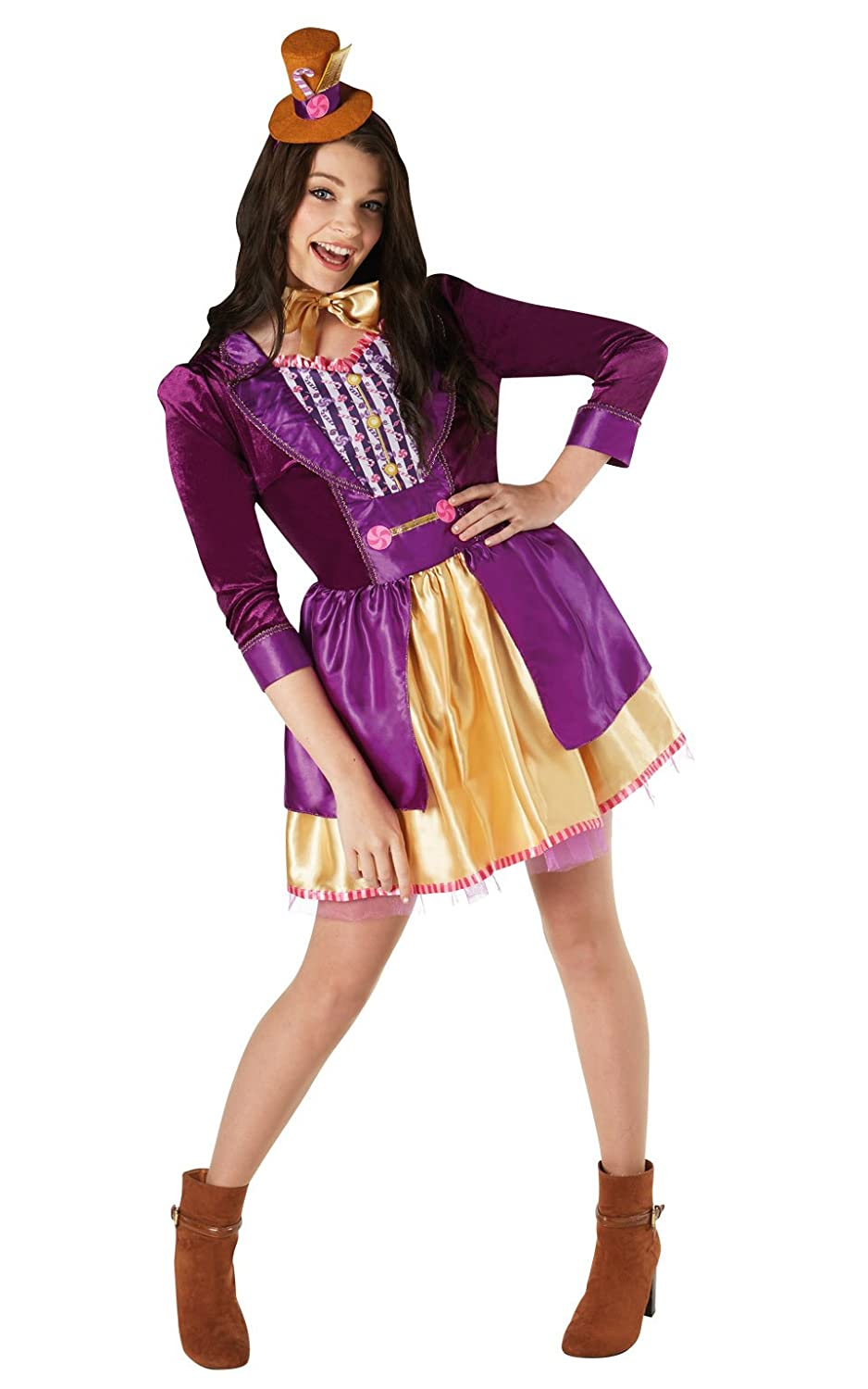 Amazon.com: Rubies Womens Official Willy Wonka Costume: Clothing