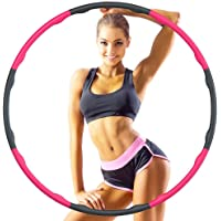 Hoola Hoop Reifen Erwachsene 1.2kg, 6-8 Segmente Abnehmbarer Hoola Hoop Reifen Geeignet Für Fitness/Sport/Zuhause/BüRo…