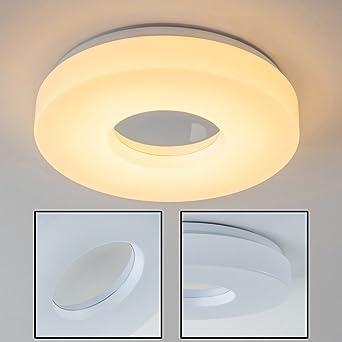 LED Deckenleuchte Loris U2013 Deckenlampe In Runder Form Aus Aluminium Und Poly  U2013 IP44 Badezimmer Lampe