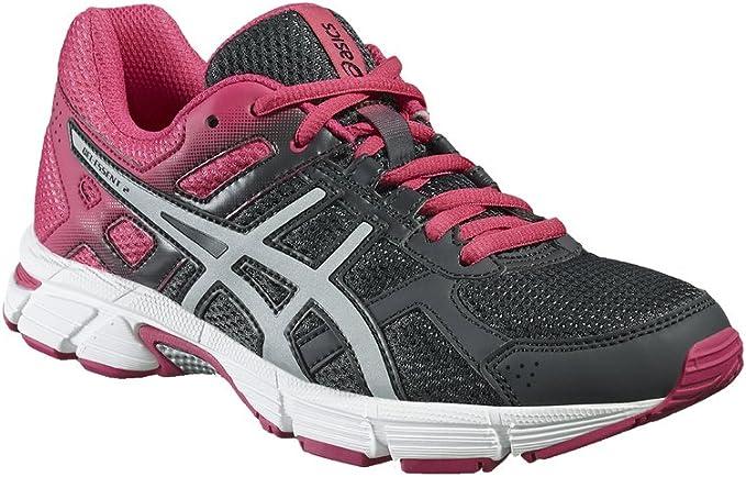 ASICS Gel-Essent 2 - Zapatillas de Running para Mujer (T576Q), Forged Iron/Silver/Fuchsia Purple, UK 5 / EU 38 / US 7 / CM 24.0: Amazon.es: Deportes y aire libre