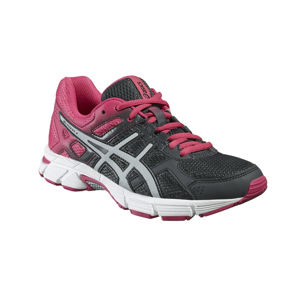 ASICS Gel-Essent 2 - Zapatillas de Running para Mujer (T576Q), Forged Iron/Silver / Fuchsia Purple, UK 4 / EU 37 / US 6 / CM 23.0