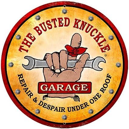 Blechschild Wandschild The Busted Knuckle Garage 28,5x59,8 cm