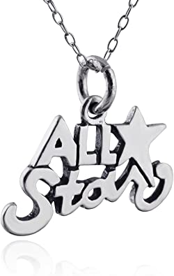 Sterling Silver Star Charm /& 18 Chain