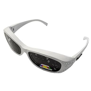 Figuretta Gafas de sol Gafas superpuestas en color blanco ...