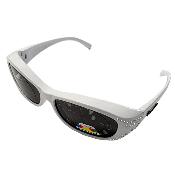 35797cd3e7 Figuretta Gafas de sol Gafas superpuestas en color blanco con aspecto de  brillantes: Amazon.es: Salud y cuidado personal